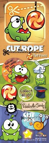 FLATPACK - Cut The Rope Vending Tattoos x 300 (NO DISPLAY CARD)